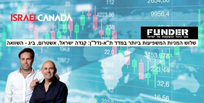 מניית ישראל קנדה בין שלוש המניות המשפיעות ביותר הנסחרות בבורסה | ברק רוזן